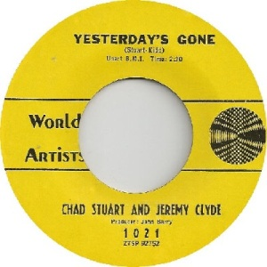 Chad & Jeremy - World Artists 1021 - Yesterday's Gone