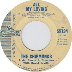 CHIPMUNKS ALL MY LOVING DJ