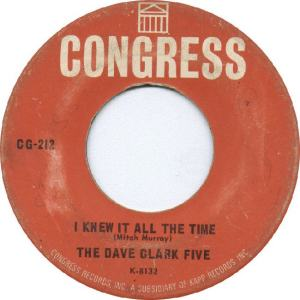 Clark Five, Dave - Congress 212 - I Knew It All The Time