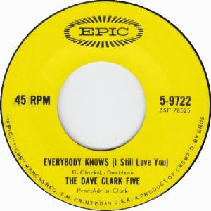 Clark Five, Dave - Epic 9722 - Everybody Knows