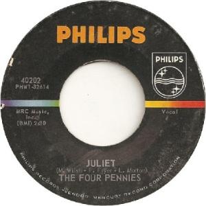 Four Pennies - Philips 40202 - Juliet