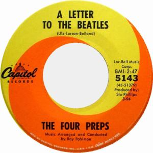 Four Preps - Capitol 5143 - A Letter to the Beatles