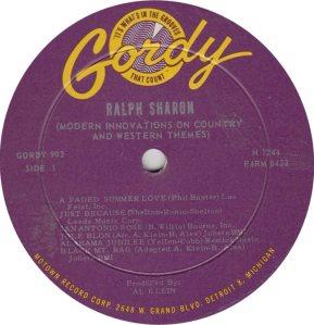 GORDY 903 - SHARON A
