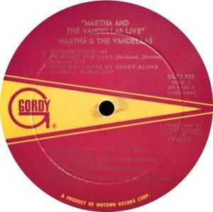 GORDY 925 - VANDELLAS A
