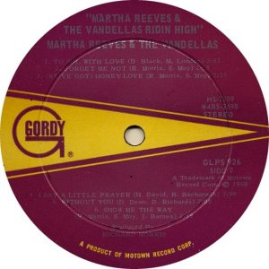 GORDY 926 - VANDELLAS B