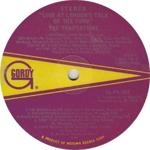 GORDY 953 - TEMPS R