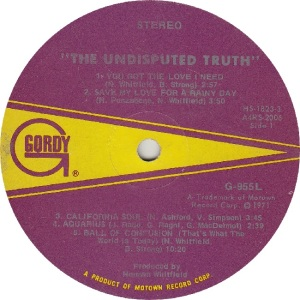 GORDY 955 - UND TRUTH R