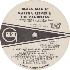 GORDY 958 DJ - VANDELLAS R