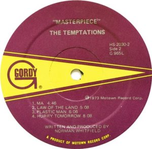 GORDY 965 - TEMPTATIONS D