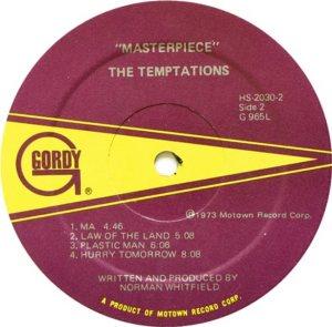 GORDY 965 - TEMPTATIONS D