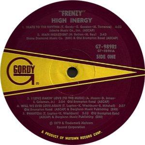 GORDY 989 - HIGH INERGY C