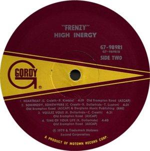 GORDY 989 - HIGH INERGY D