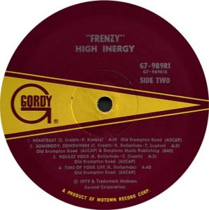 GORDY 989 - HIGH INERGY D