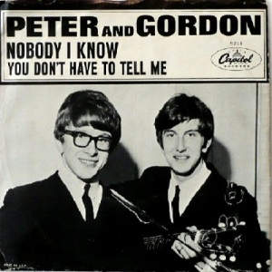 Peter & Gordon - Capitol 5211 - Nobody I Know - PS
