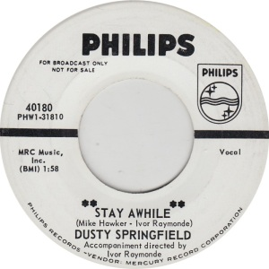 SPRINGFIELD DUSTY - PHILIPS 40180 DJ