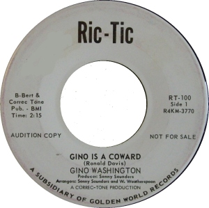 WASHINGTON GINO - RIC TIC COWARD