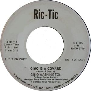 WASHINGTON GINO - RIC TIC COWARD