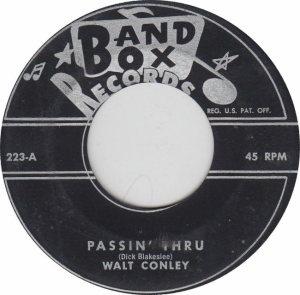 BAND BOX 223 - CONLEY - WALT A