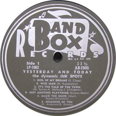 Band Box LPL 1002 - Ink Spots SD 1
