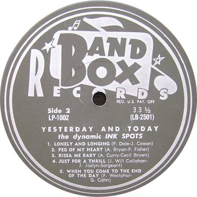 Band Box LPL 1002 - Ink Spots SD 2
