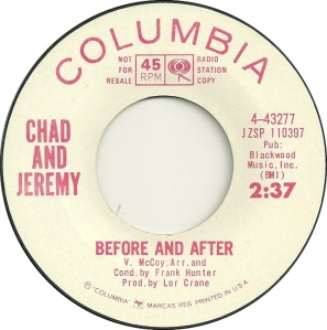 CHAD & JEREMY - BEFORE & AFTER DJ