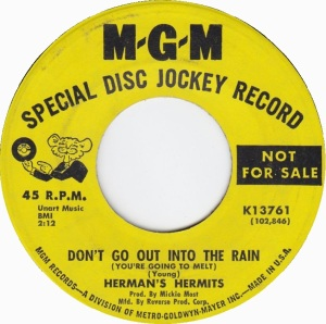 HERMITS - OUT IN RAIN DJ