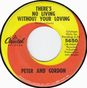 PETER AND GORDON CAP - THERES NO