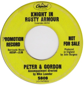 PETER & GORDON - CAP KNIGHT DJ