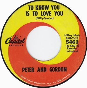 PETER & GORDON - TO KNOW