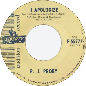 PROBY PJ - I APOLOGIZE