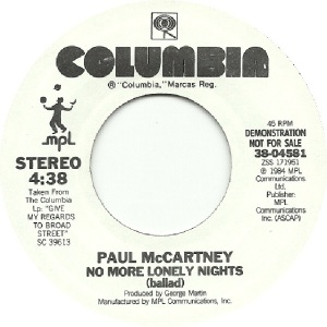 60 mccartney - oct 2 84 - DJ A