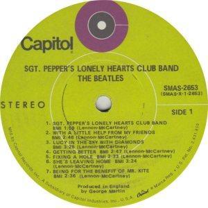 BEATLE LP LABEL 29 69 RE