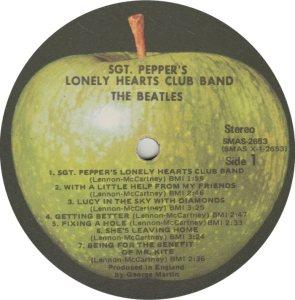 BEATLE LP LABEL 29 71 RE