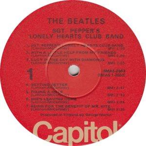 BEATLE LP LABEL 29 76 RE