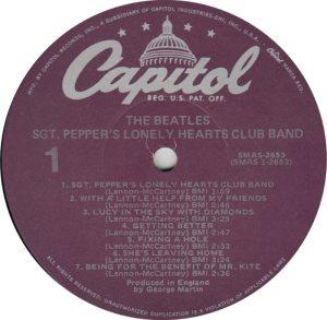 BEATLE LP LABEL 29 78 RE