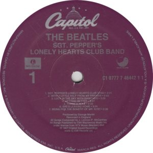 BEATLE LP LABEL 29 88 RE