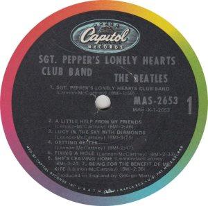 BEATLE LP LABEL 29 ORIG 67