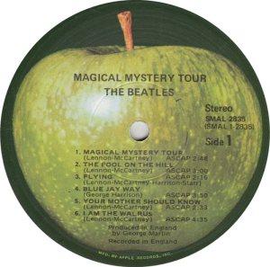 BEATLE LP LABEL 30 71 RE