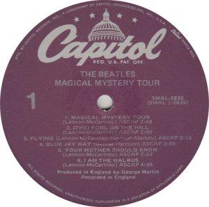BEATLE LP LABEL 30 78 RE