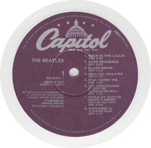 BEATLE LP LABEL 30 - 78 WV
