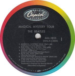 BEATLE LP LABEL 30 ORIG 67