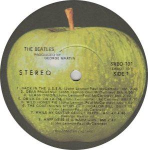 BEATLE LP LABEL 31 - 68 ORIG