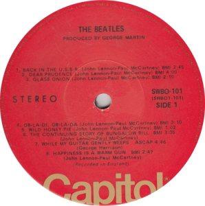 BEATLE LP LABEL 31 - 76 RE