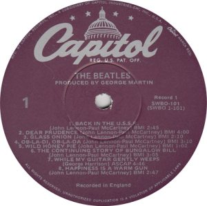 BEATLE LP LABEL 31 - 78
