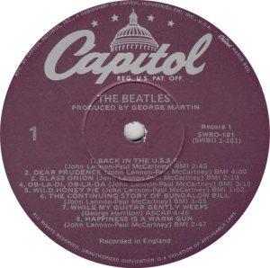 BEATLE LP LABEL 31 - 78