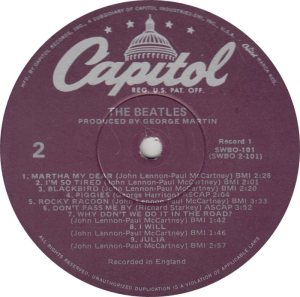 BEATLE LP LABEL 31 - 78_0001