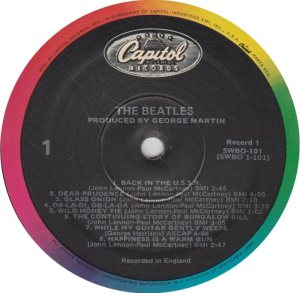 BEATLE LP LABEL 31 - 83