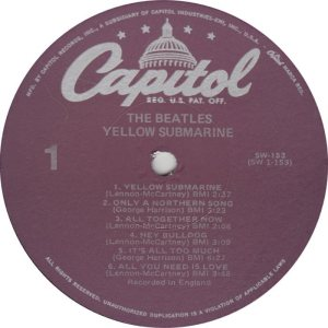 BEATLE LP LABEL 33 78