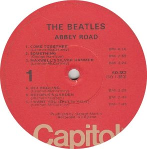 BEATLE LP LABEL 34 76