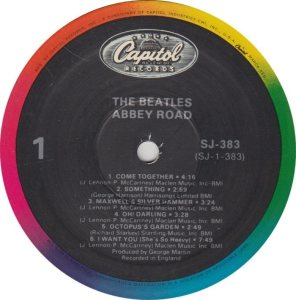 BEATLE LP LABEL 34 83